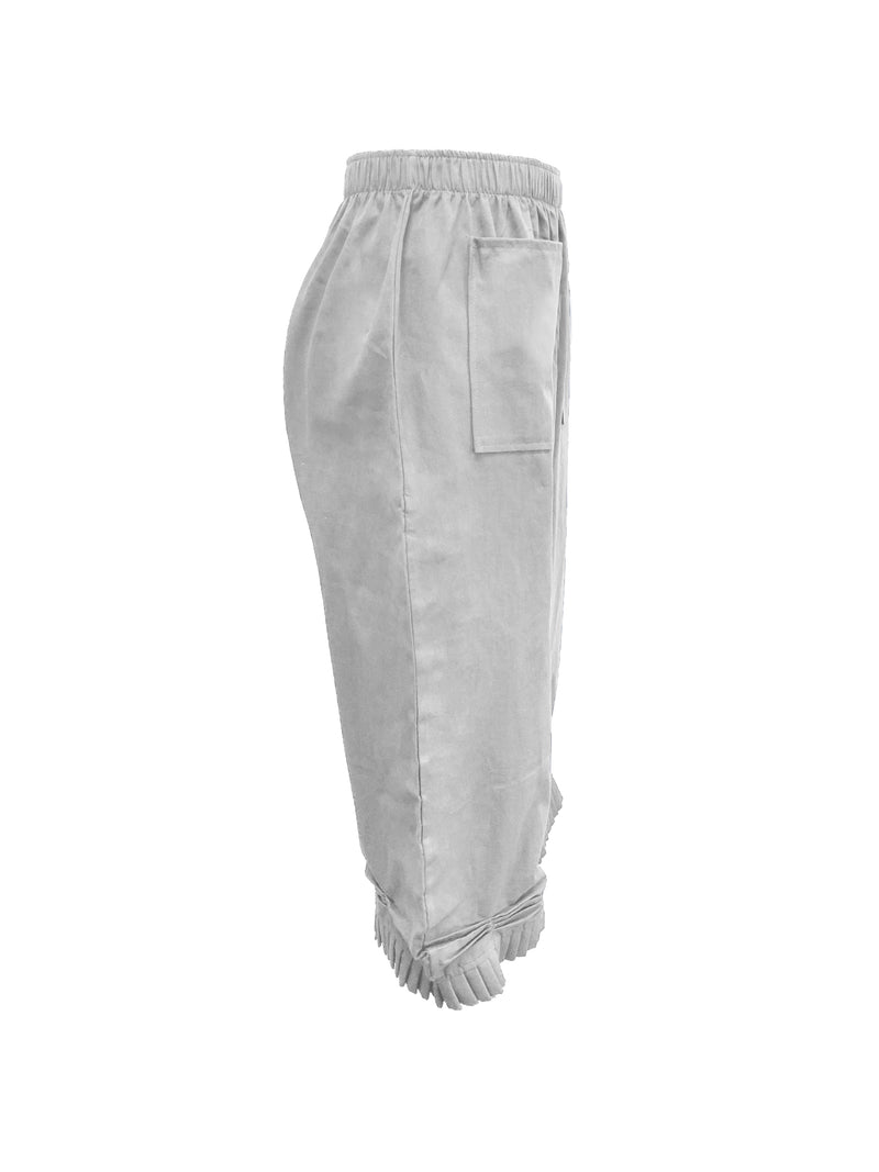Women Casual Pockets Shift Solid Pants