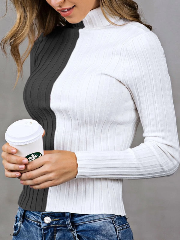 Sheath Solid Casual Long Sleeve Sweater