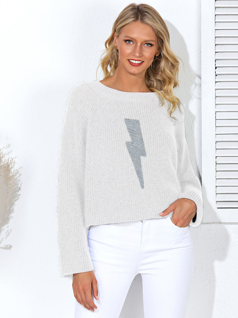 Long Sleeve Ribbed Casual Sweater