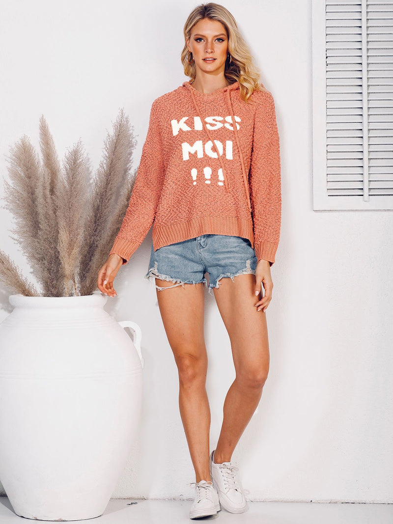 Printed Hoodie Casual Letter Sweater