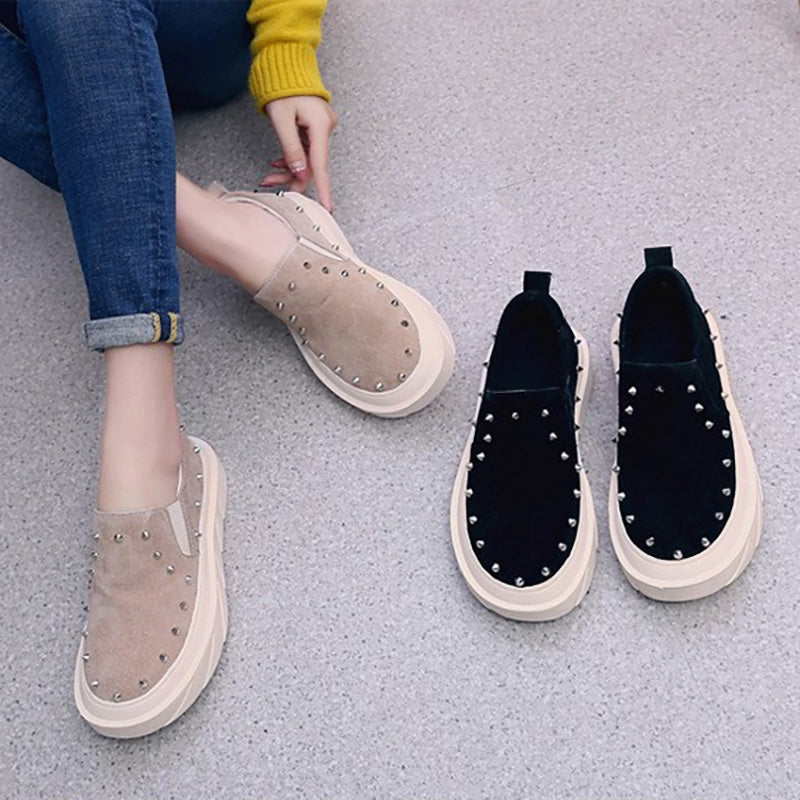 Women Artificial Suede Loafers Casual Comfort Flat Shoes
