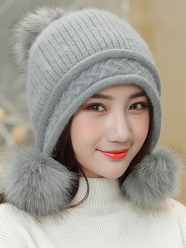 Velvet Thick Warm Knit   Christmas Hats