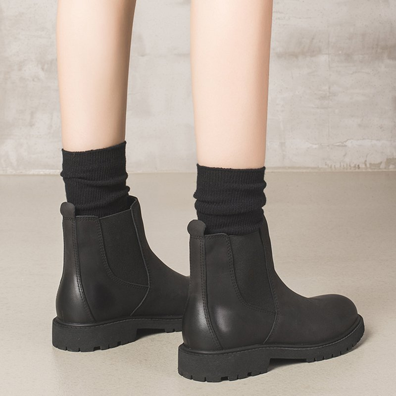 Winter Elastic Band Pu Boots