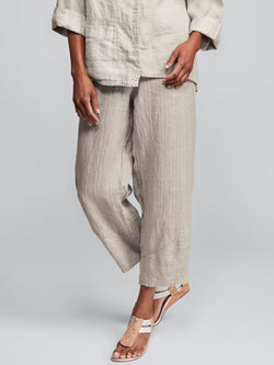 Shift Plain Linen Casual Pants