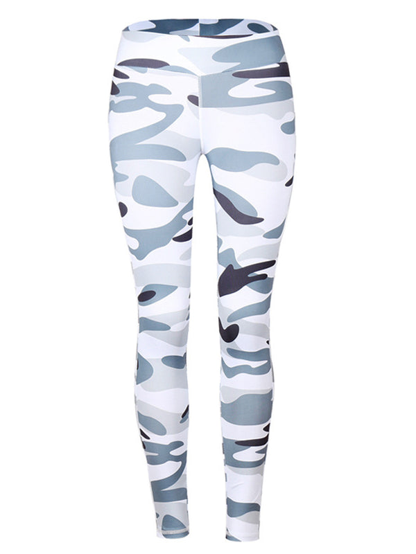 Multicolor Printed Casual Leggings