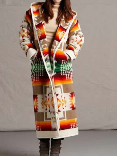 Long Sleeve Hoodie Tribal Casual Outerwear