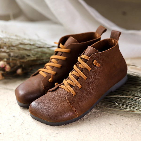 Pu Lace-Up Boots