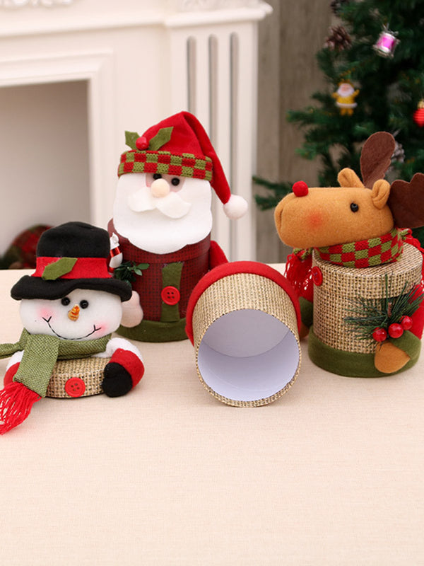 Christmas Elk Snowman Santa Claus Decoration Gift Candy Box