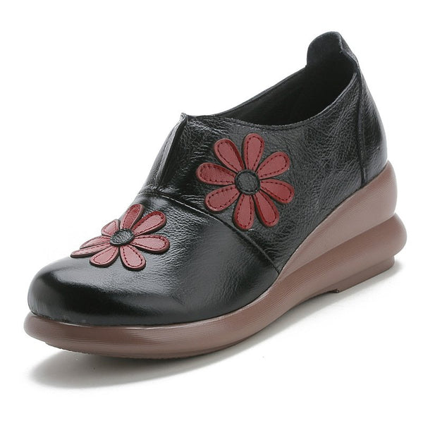 Leather Spring Women's Shoes