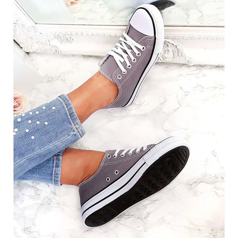 Casual Lace-Up Flats