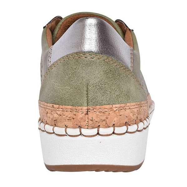 Women Green Slide Hollow-Out Round Toe Casual  Pu Sneakers Flats