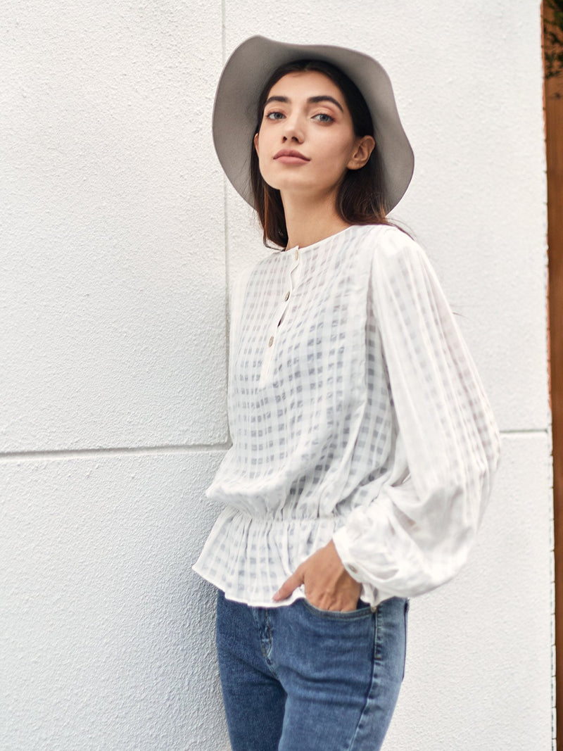 White Shift Cotton Solid Simple Shirts & Tops