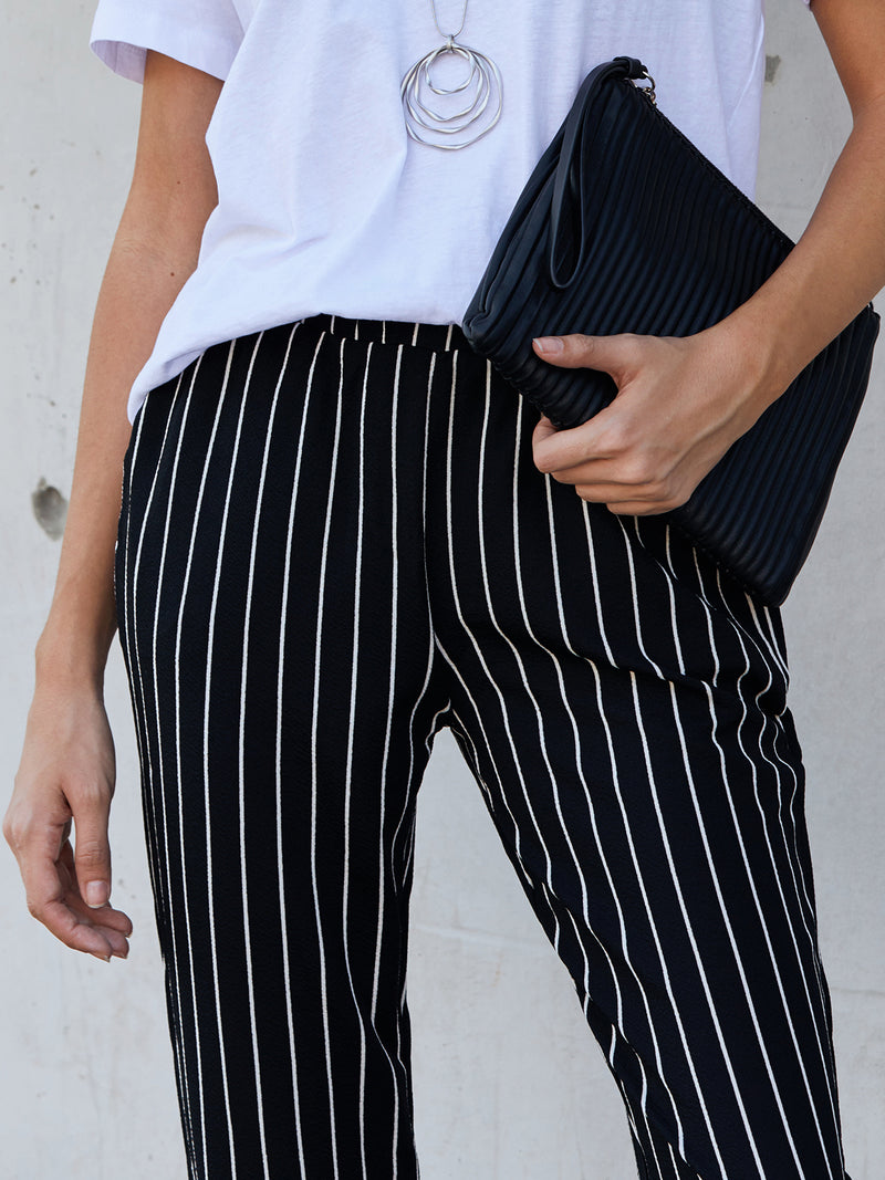 Black Stripes Casual Pants