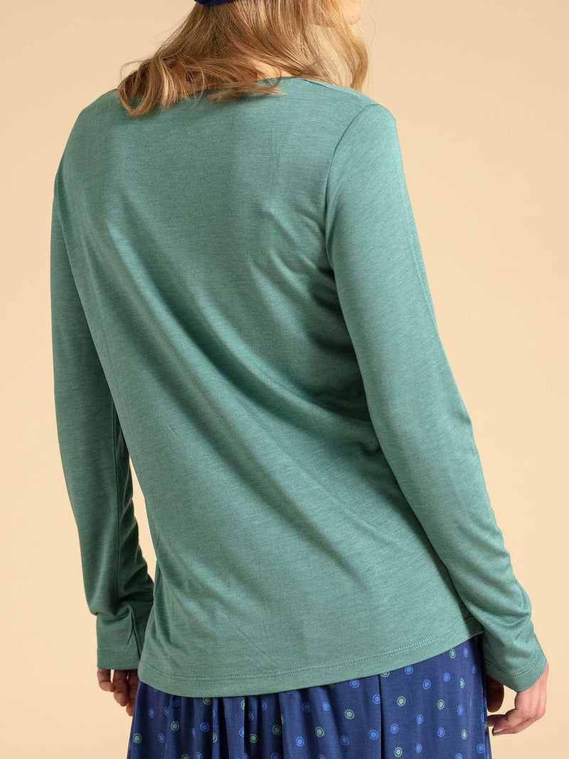 Long Sleeve Solid Shirts & Tops