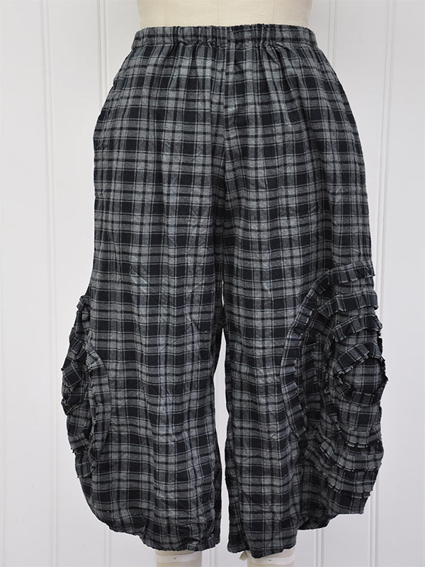 Blue Checkered/plaid Vintage Pants