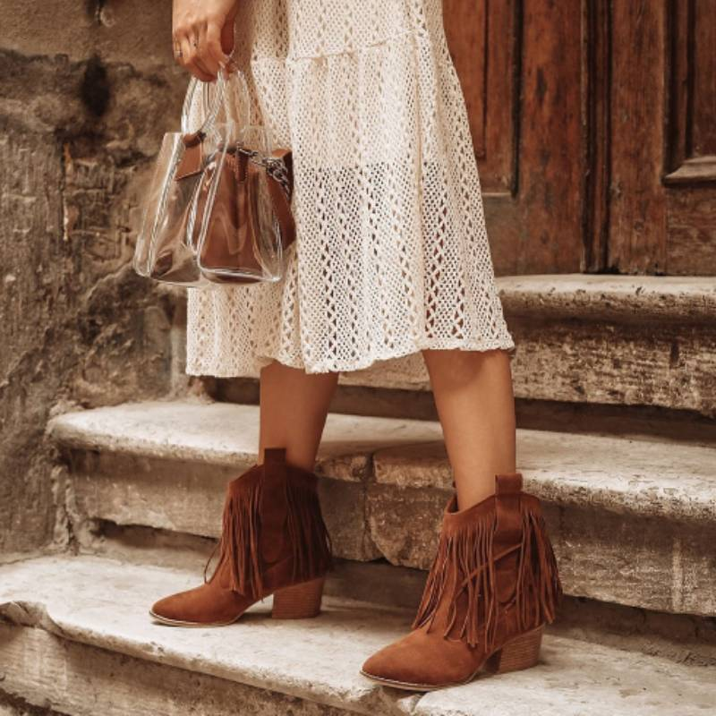 Casual Tassel Faux Suede Boot