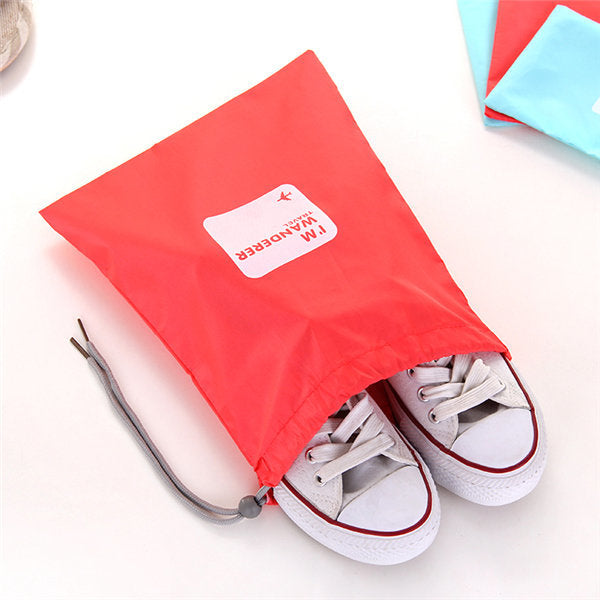 Casual 4 PCS Waterproof Beam Port Storage Bag Clothes Shoes Cosmetic Bag Travel Bag