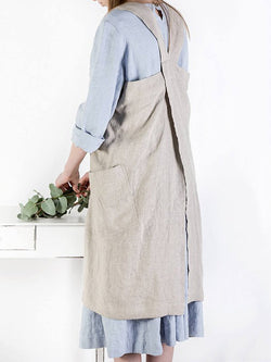 Casual Shift Solid Pocekts Plus Size Sleeveless Dress