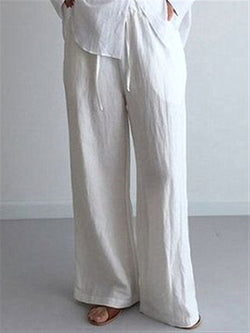 Casual Basic Daily Plus Size Long Pants