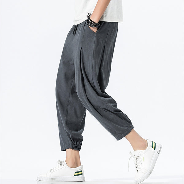 Chinese Style Loose Lantern Pants Men's Casual Harlan Nine Pants