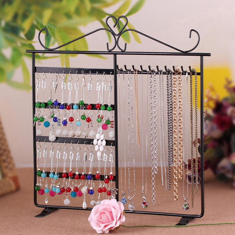 Earrings Necklace Dual-use Jewelry Stand European 48 Hole 10 Hooks