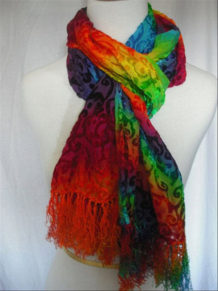 Round Neck Large Size Casual Vintage Daily Outside Autumn Multi-color Knitted Scarves & Shawls
