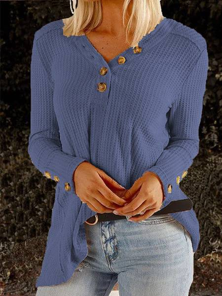 Apricot Patchwork Long Sleeve Buttoned Casual Shirts & Tops