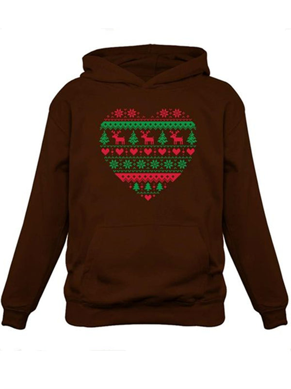 Christmas Style Printed Plus Size Hoodie