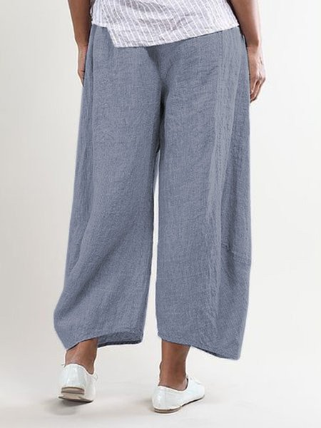 Summer Pockets Shift Casual Capri Pants