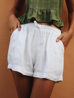 Summer Shorts Pockets Drawstring Casual Shorts