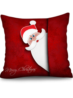 Christmas Santa Claus Greeting Pattern Decorative Pillowcase