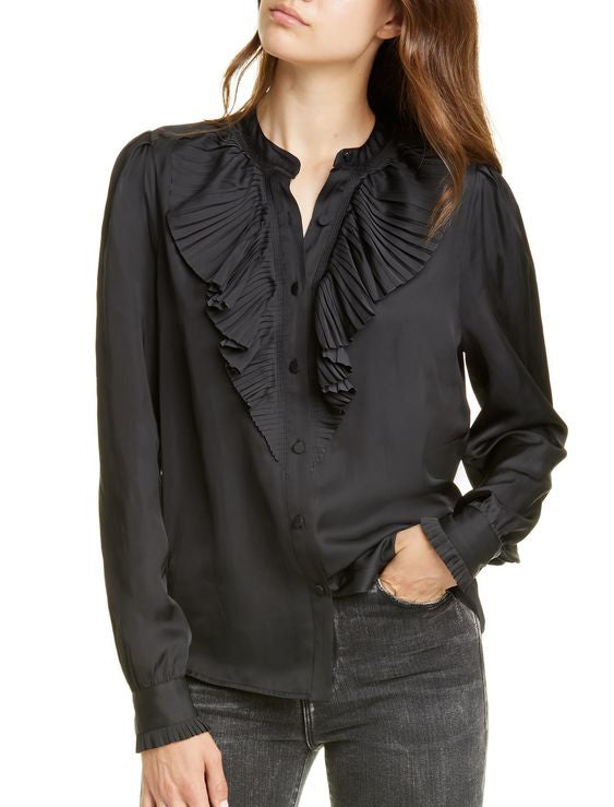 Plus Size Casual Long Sleeve Solid Shirts & Tops