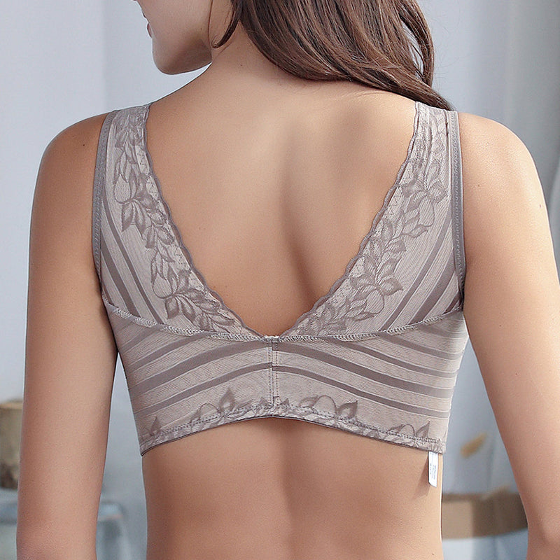 Lace Wireless Cotton  Removable Padding Sleep Bras