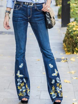 Floral Printed Casual Pants