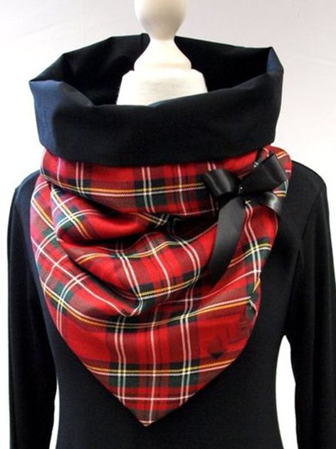 Red Checkered/plaid Scarves & Shawls