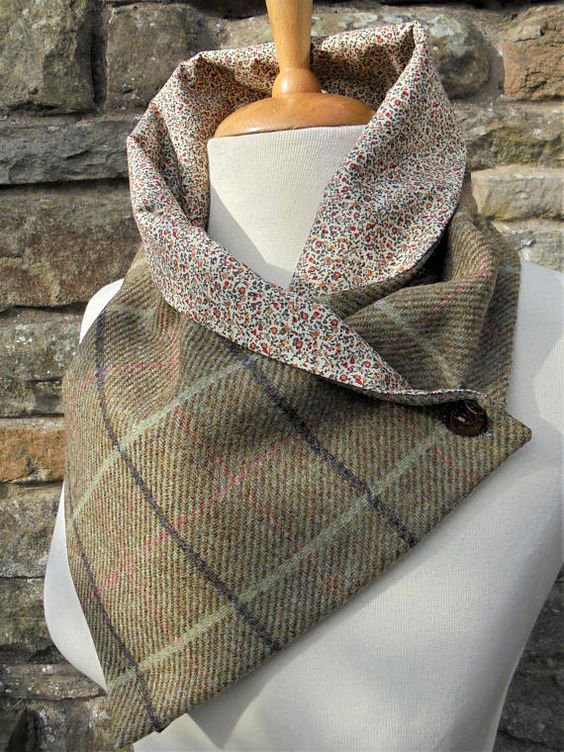 Yellow Brown Checkered/plaid Scarves & Shawls