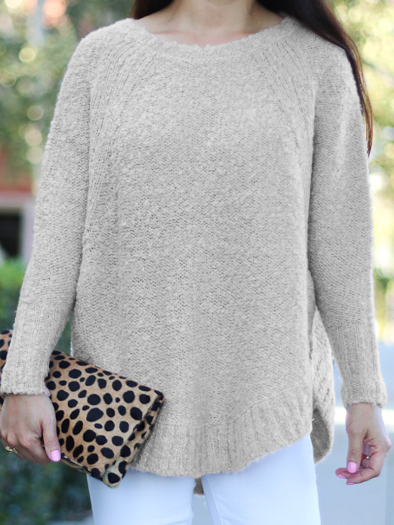 Casual Shift Mohair Long Sleeve Sweater