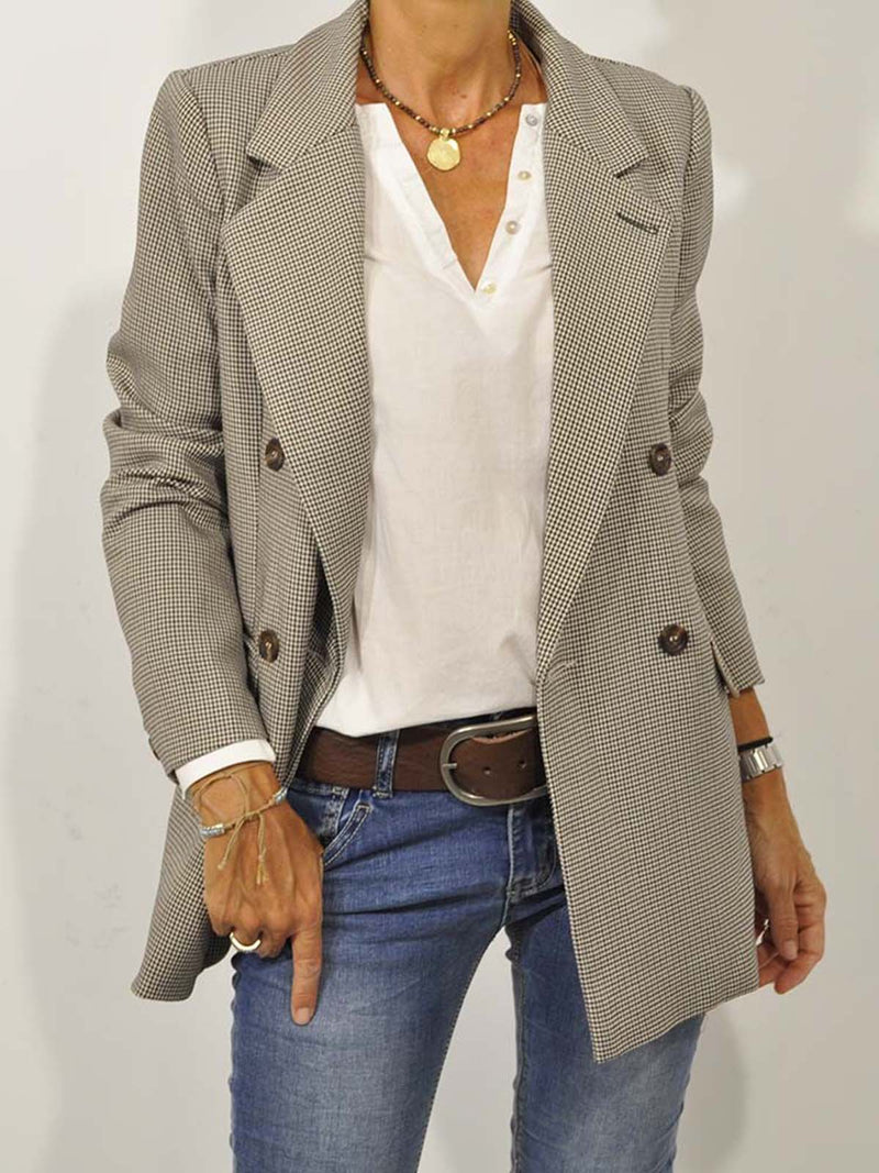 White Buttoned Long Sleeve Linen Shirts & Tops