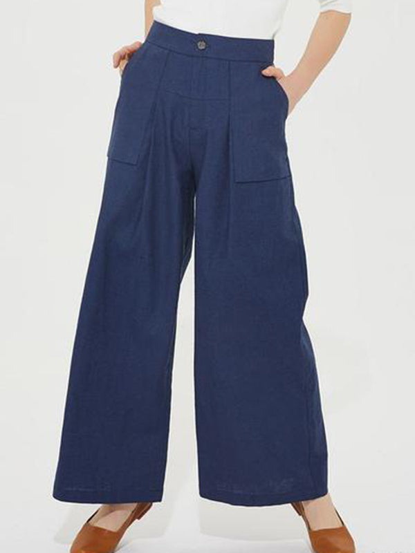 Linen Plain Casual Pants