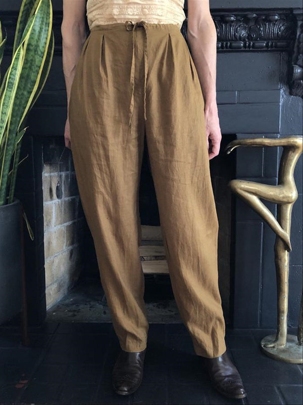 Casual Basic Daily Comfortable Camel Spring Summer Pants