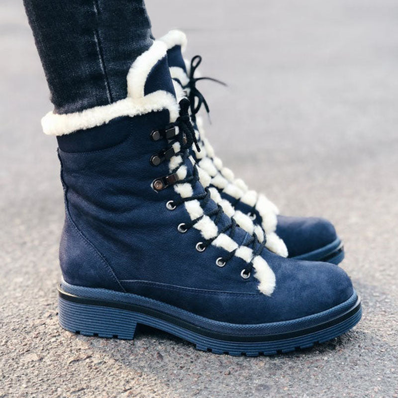 Womens Warm Daily Boots Outdoor Casual Comfort Boots