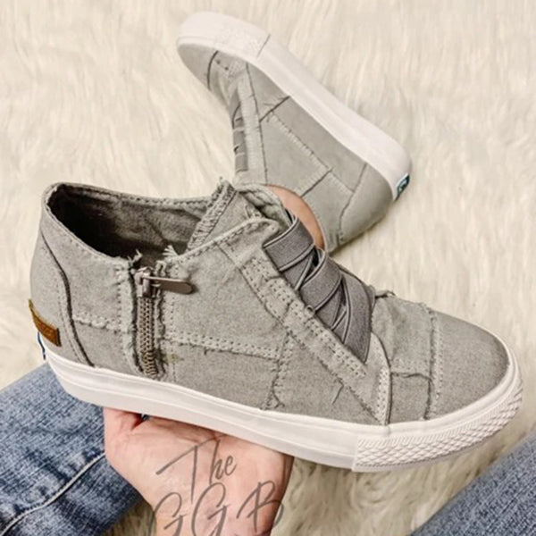 Lightgreen Low Heel Spring Casual Canvas Sneakers