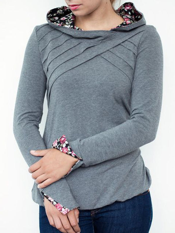 Light Gray Hoodie Long Sleeve Sweatshirt