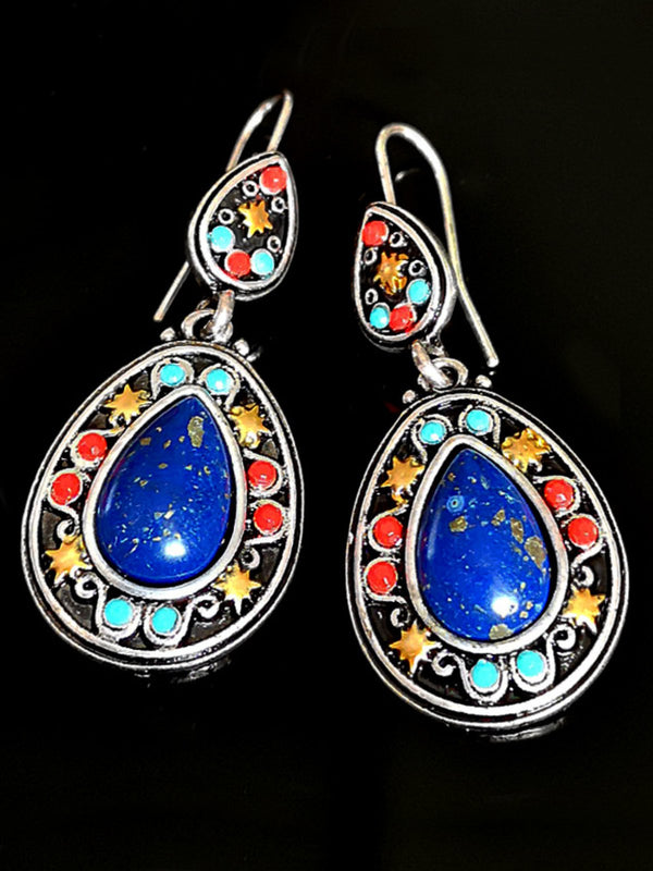 Vintage Natural Lapis Earrings