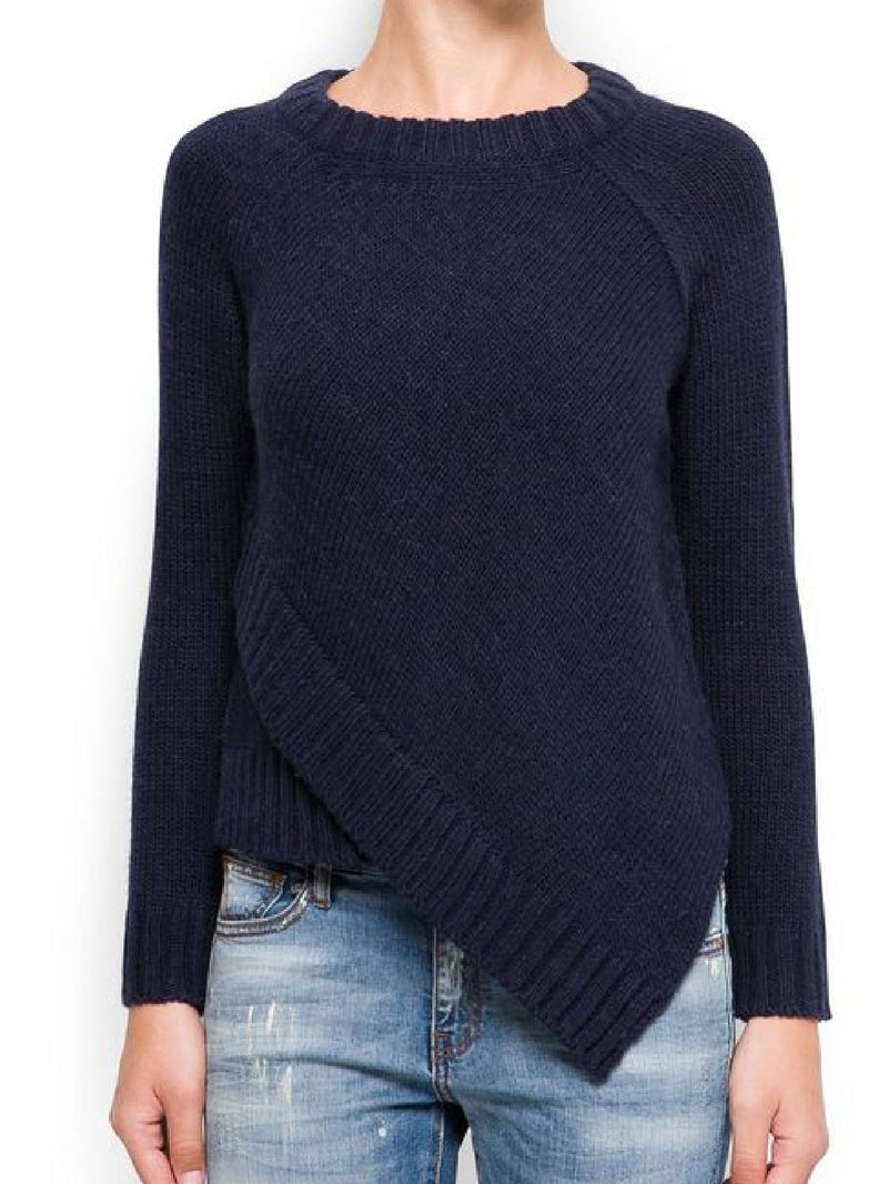 Navy Blue Long Sleeve Vintage Sweater