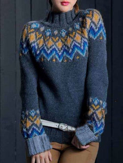 Navy Vintage Knitted plus size Sweater