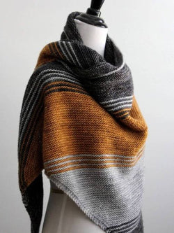 Multicolor Knitted Casual Stripes Scarves & Shawls