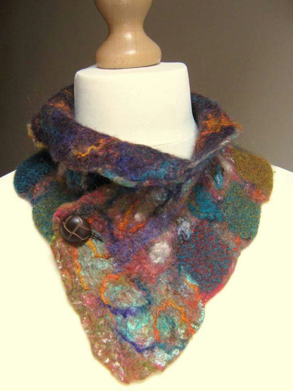 Color Ombre/tie-Dye Color-Block Vintage Scarves & Shawls