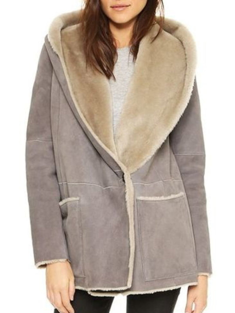Plus Size Casual Pockets Hoodie Long Sleeve Outerwear