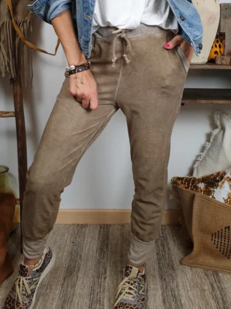 Plus Size Casual Pockets Pants